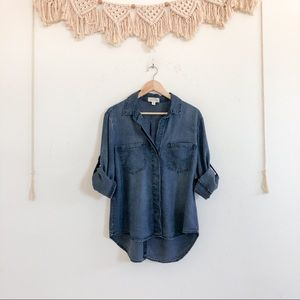 Anthropologie Cloth & Stone Chambray Button Up